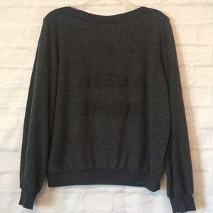 Wildfox I need a drink gray sweatshirt sz Large